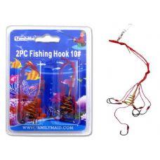 144 Units of FISHING HOOK 2PC 10# - Fishing Items