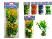 144 Units of 6 Piece Fish Tank Tree Decoration - Fishing Items