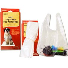 144 Units of DOG POOP BAGS 50PC DISPOSABLE 19X28CM 1.5C