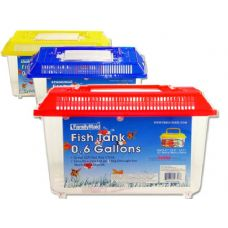 48 Units of FISH TANK 21.5X14X15CM ASST CL OLD NO 10956 - Fishing Items