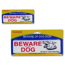 144 Units of DOG SIGN OD BEWARE - Pet Collars and Leashes