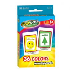 48 Units of BAZIC Colors Preschool Flash Cards (36/Pack) - Teacher / Student