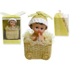 96 Units of POLYSTONE GREEN & YELLOW BABYIN BASKET - Baskets