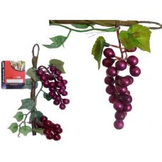 144 Units of GRAPES ON STEM 2PC DECORATION - Home Decor