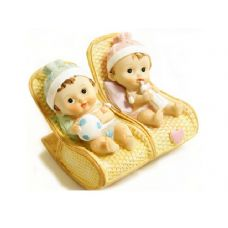 48 Units of PR BABY ON ROCKING CHAIR 2CLR - Home Decor