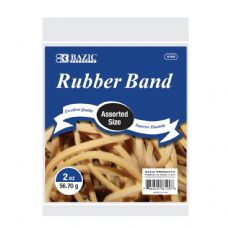 72 Units of BAZIC 2 Oz./ 56.70 g Assorted Sizes Rubber Bands - Rubber Bands