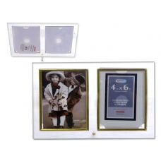 "24 Units of GLASS PHO FRAME 2X (4""X6"")GOLD TRIM - Picture Frames"