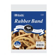 72 Units of BAZIC 2 Oz./ 56.70 g #64 Rubber Bands