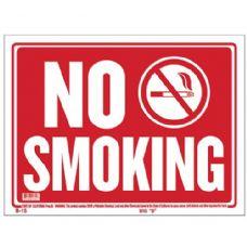 "72 Units of 12"" X 16"" No Smoking Sign"