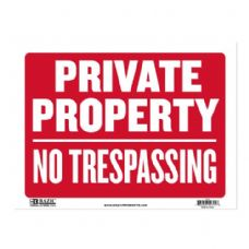 """72 Units of 12"""" x 16"""" Private Property Sign"""