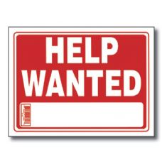 """72 Units of 12"""" X 16"""" Help Wanted Sign"""
