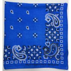 144 Units of Bandana--Royal Blue Paisley Print - Bandanas