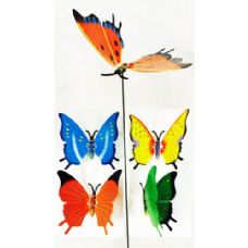 72 Units of Garden Stake Decoration Butterfly Assorted Colors