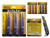 144 Units of 3 Piece Box Cutter - TOOL SETS