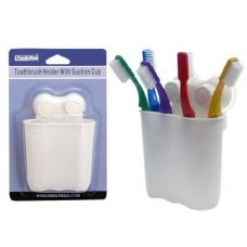 96 Units of TOOTH BRUSH HOLDER W/SUCTION