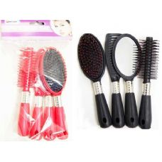 "96 Units of COMB SET 4PC /SET 8""LONG BK BL RED 23080 23048 - Hair Brushes & Combs"