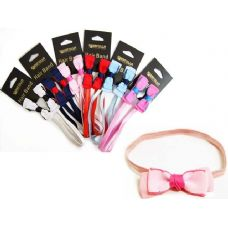 144 Units of hair band w/ butterfly bow 6asst packing 1.pc