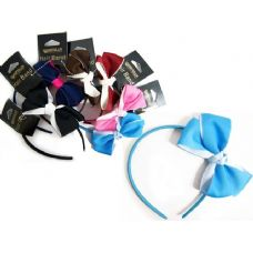 144 Units of Hair Band W/Double Bow