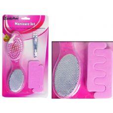 96 Units of MANICURE SET 4PCS PURPLE - Manicure and Pedicure Items