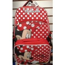 24 Units of Mini Mouse Girls Backpack With Insulated Luch Box Cooler