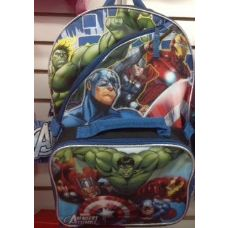 24 Units of Hulk Backpack With Insulated Lunch Box Cooler