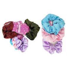 288 Units of 3 Piece Assorted Printed Scrunchies - Hair Scrunchies