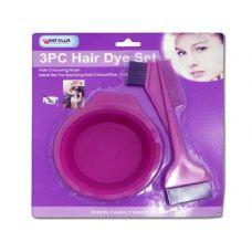 96 Units of V HAIR DYE 3PC/SET 2ASST CLR - Hair Accessories