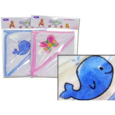 96 Units of BABY HOODED TOWEL ASST - Baby Shower
