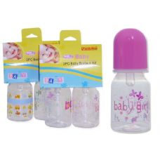 72 Units of Baby Bottles- 2 Piece 4 oz Bottles - Baby Bottles