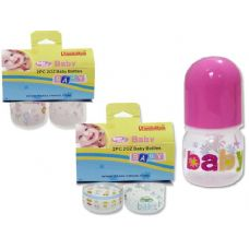 72 Units of BABY BOTTLE 2OZ YELLOW CARD HANGING