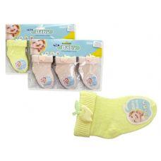 288 Units of SOCK INFANT 3PR/CARDSTRAWBERRY+APPL - Baby Apparel