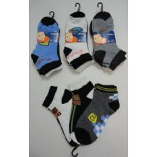 72 Units of Boy's Printed Anklet Socks 4-6