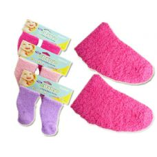 144 Units of BABY SOCKS FUZZY 2PR ASST CLR - Baby Apparel