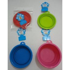 72 Units of Silicone Pets Bowl - Pet Accessories