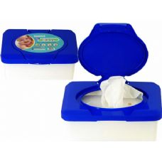 72 Units of Baby Wipes In Blue Case - Baby Accessories