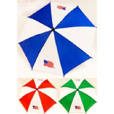 60 Units of Umbrella Hats With American Flag Assorted Colors