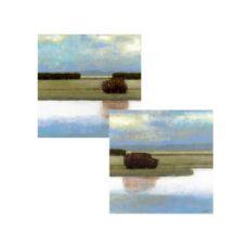 "12 Units of Wholesale 16"" x 16"" Crystal Bay Landscape Wrap Canvas Art - Wall Decor"