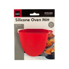 72 Units of Wholesale Silicone Oven Mitt - Oven Mits & Pot Holders