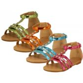 24 Units of Children's Rhinestone Studded Sandals - Girls Sandals