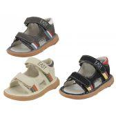 24 Units of Boy's Velcro Sandals - Boys Flip Flops & Sandals