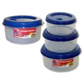 48 Units of 3 Piece Round Food Containers