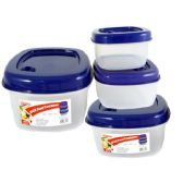 48 Units of 3 Piece Square Food Container - Food Storage Bags & Containers