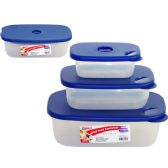 48 Units of 3 Piece Rectangle Container - Food Storage Bags & Containers