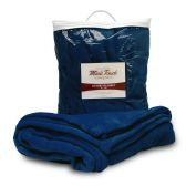 24 Units of Mink Touch Luxury Blankets In Navy - Fleece & Sherpa Blankets