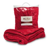 24 Units of Mink Touch Luxury Blankets In Red - Fleece & Sherpa Blankets