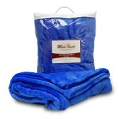 24 Units of Mink Touch Luxury Blankets In Royal Blue - Fleece & Sherpa Blankets