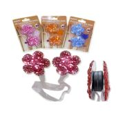 "144 Units of CURTAIN HOLDER W/JEWELS12.6"" LONG LUE,PINK,ORANGE CLR"