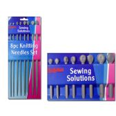144 Units of KNITTING NEEDLESS - Sewing Supplies