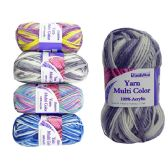 96 Units of YARN MULTI COLOR FAT 100GM - Sewing Supplies