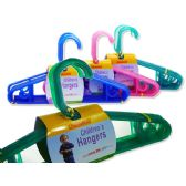 "72 Units of HANGER 8PC/PK FOR KID11.5X6.5"" RED,BLUE,GR - Hangers"